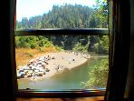 The Rhondavous, View from Bedroom Window, Russian River, CA