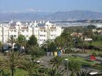 Views of Sierra Nevada from balcony