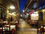 And, this is what we affectionately call 'The street of a thousand restaurants'! Choice abounds!