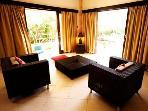 Villa Maya Legian Lounge overlooking Terrace & Garden