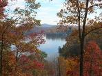 Beautiful Fall Foliage on Lake Lure