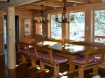 Tahoe Dining table, seats 16 - Historic Palisades Ski Cabin Squaw Valley