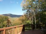 view from private deck of big bald mtn at 5,600 ft above sea level