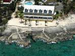 Aerial View of Coconut Bay Condos (Cayman Sunset is 2nd Set of Windows in from Left!)