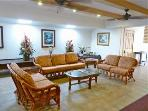 Kuleana lobby offers lending library and comfortable gathering place...