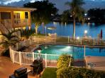 Intracoastal and Heated Swimming Pool at night