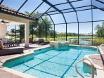 Pool Features your own Private Spa to enjoy the Sunset