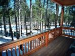 King Master # 2 with Private Deck Looking Over the Meadow.