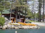 Tahoe Donner Lake Private Beach with a variety of Boat rentals