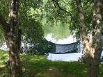 lazy lakeside hammock
