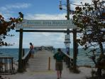 Anna Maria City Pier at the end of the street