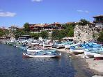 The quaint harbour at Old Nessebar