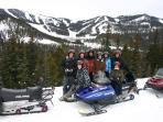 Walking distance to Monarch Snowmobile Tours - great family fun!