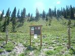 Continental Divide Loop trail head