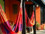 Hammocks. A great place to have your morning coffee or a sunset drink.