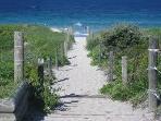 Walkway to ocean beach