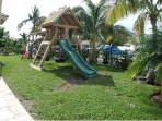 2 Playgrounds - large and small, yard is fully fenced