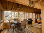 Large Wrap-Around Screened Porch Overlooks the Fishpond