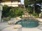Front yard, private pool and spa