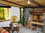 fireplace villa la cocoteraie