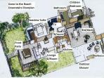 Gone to the Beach downstairs floor plan