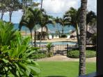 Oceanside pool with hot tub - view from lanai of unit#240