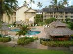 Oceanside pool, Jacuzzi and Tiki bar for your enjoyment