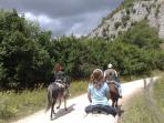 Riding nearby in the Maiella Mountains