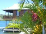 The Casita nestled over the water in a tropical paradise