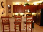 Contemporary Kitchen with Breakfast Bar for 3