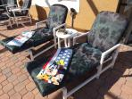 Plenty of pool furniture for all guests