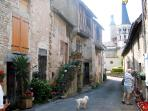 The medieval streets of St Gengoux