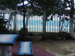 Picnic Tables by the Beach