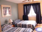 Spacious mater bedroom, with private balcony, overlooking beach, with nightly sunsets
