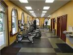 Fitness Center with steam room, sauna and whirlpool.