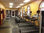 Gym with Whirlpool, Sauna, Steam Room
