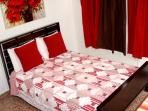 REDDISH ROOM WITH FULL BED ONLY