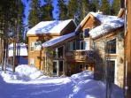 Luxury duplex surrounded by lodgepole pines