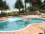 Relaxing in the pool @ low tide