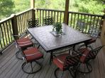 Patio Table and Chairs with seating for Eight!