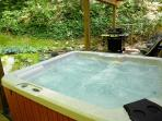 Enjoy our romantic CREEKSIDE Hot Tub. Doesn't get any better than this!
