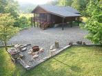 Cabin, Parking and Fire Pit