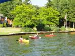 Kayaking is another wonderful passtime on the lakes.  We have a Perception Kayak at Fairway Chalet!