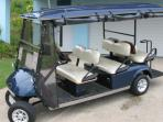 The Blue Beach House electric buggy