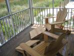Come enjoy our relaxing porch and listen to the sounds of nature!