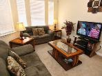 Includes cable on the grand Flat Screen TV