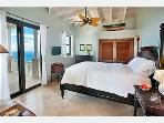 Main level bedroom with vaulted ceiling,  faces the ocean