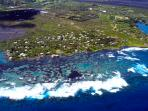 Aerial view- Kapoho & Tide Pools (commercial photo)
