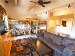 Bunk Room-Upstairs: 2 bunk beds, loft, trundle, sleeper sofa