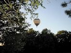 Hot Air Balloon Flying over La Menagerie